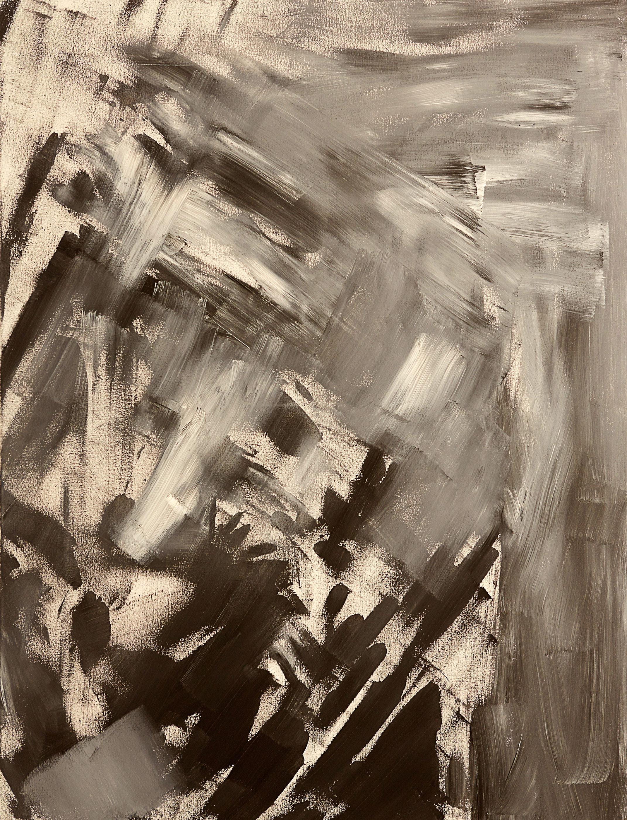 "Shade , 2015   Oil on canvas   36 x 42"""