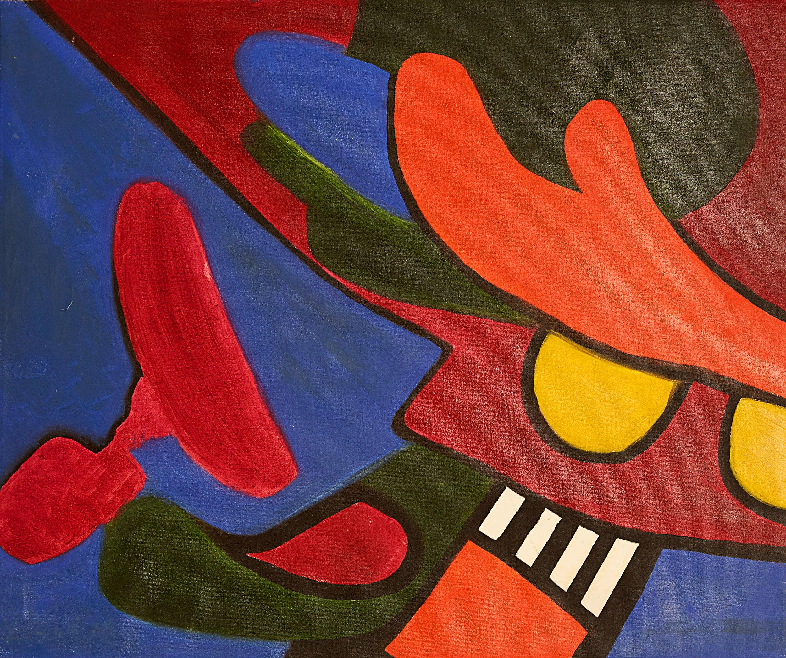 """Start , 2008   Oil on canvas   23 x 19"""""""