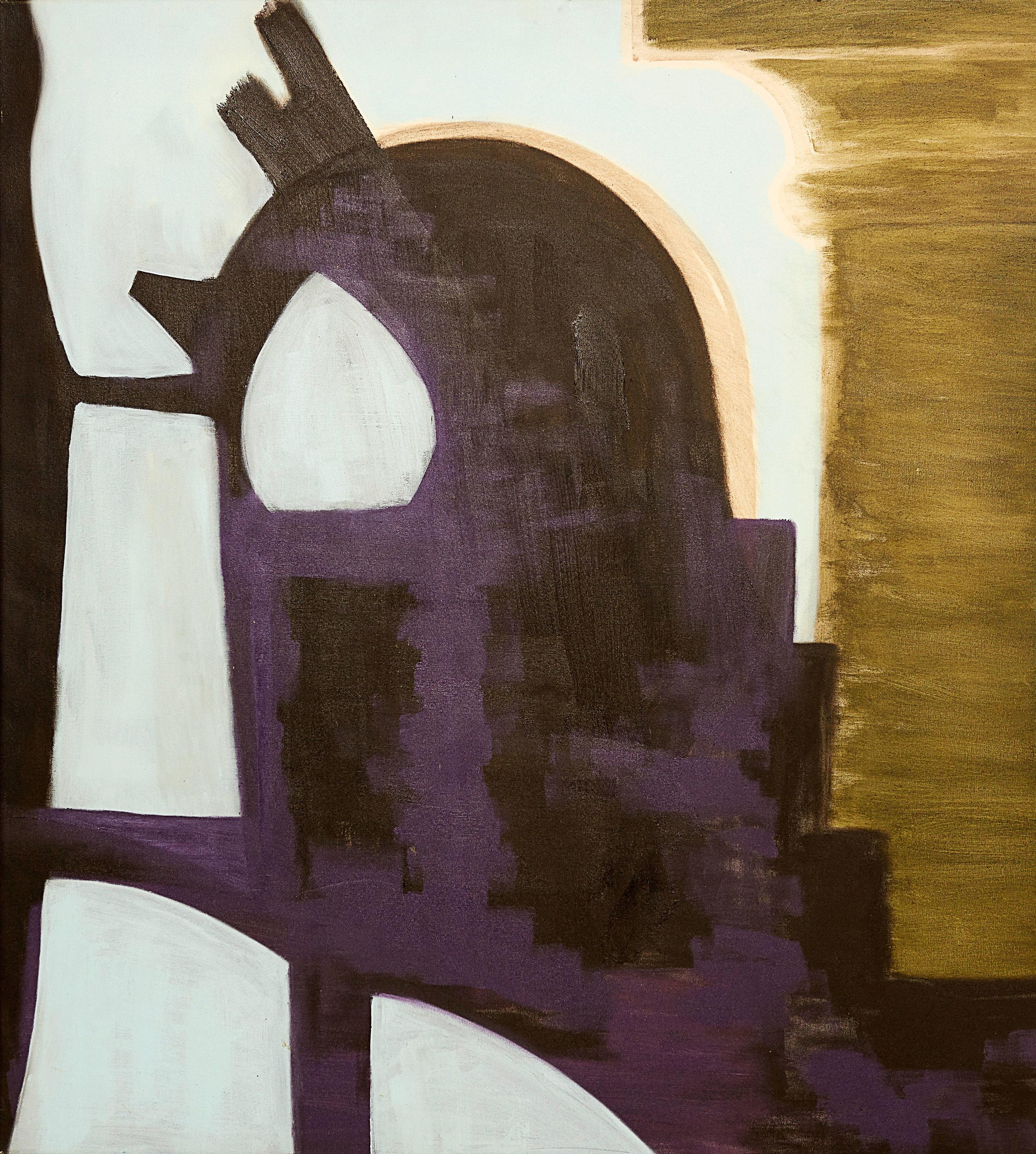 """The Column , 2009   Oil on canvas   34 x 38"""""""