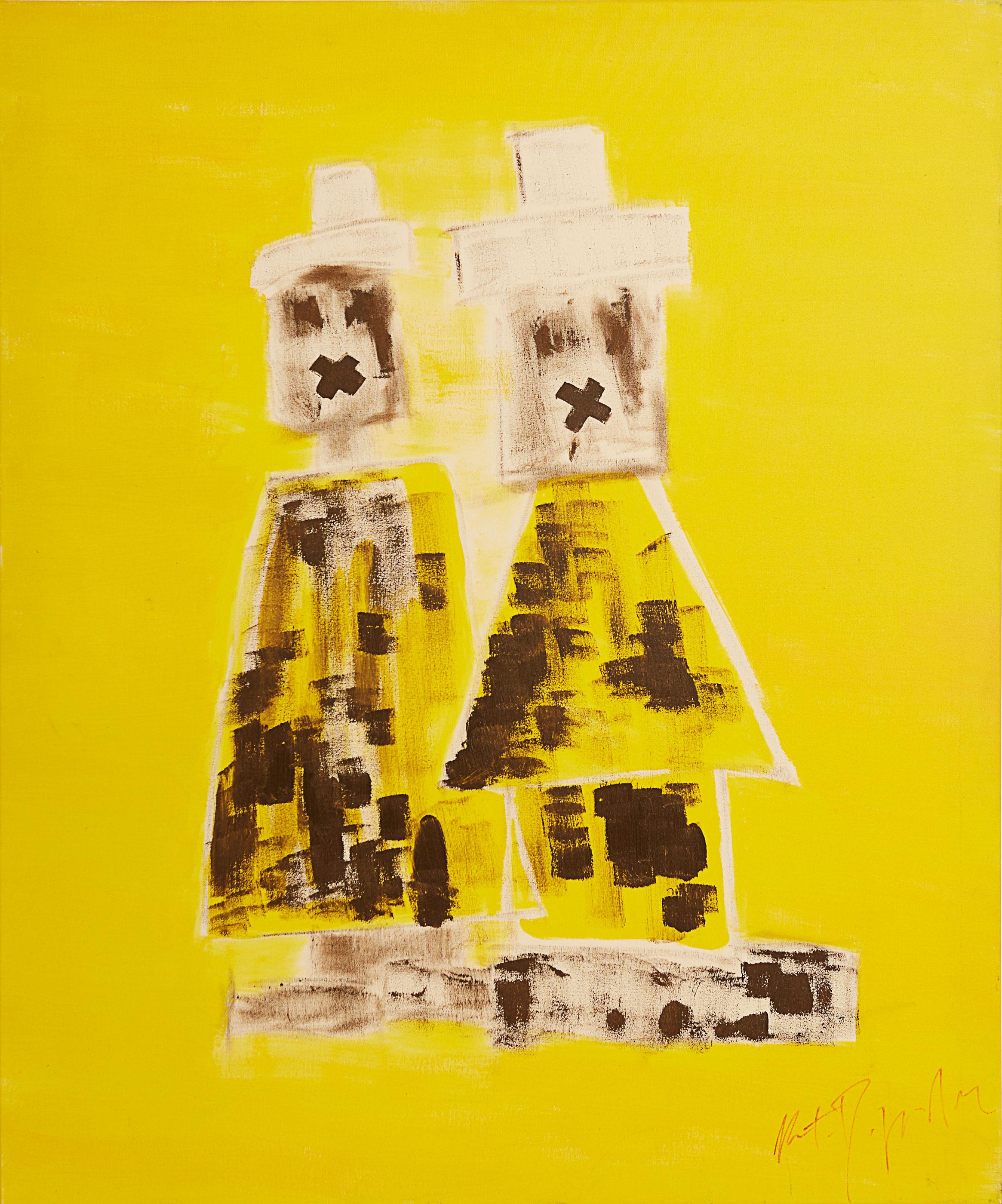 """Zitti , 2010   Oil on canvas   38 x 46"""""""