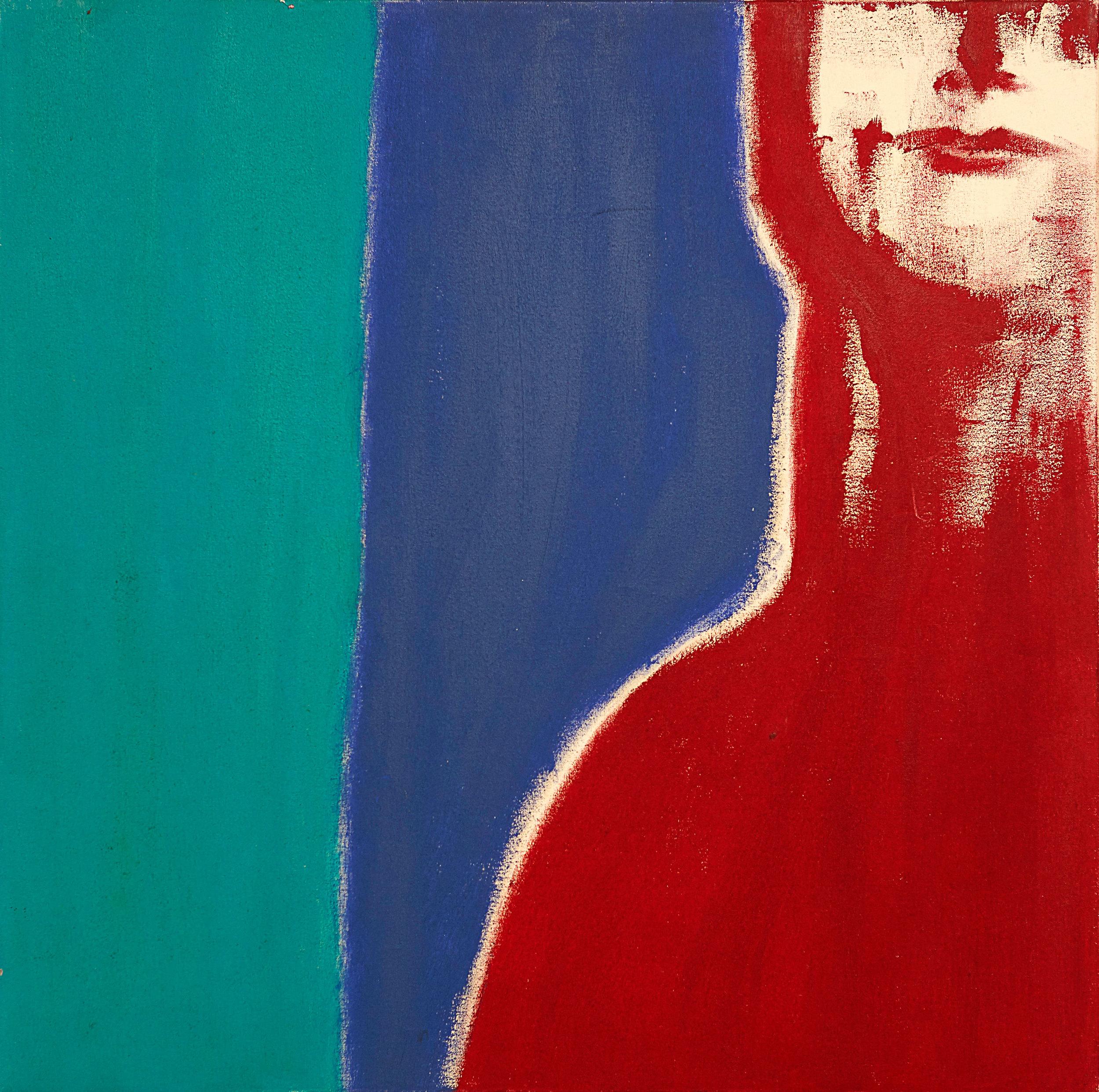 "Self Portrait  , 2008   Oil on canvas   20 x 20"""