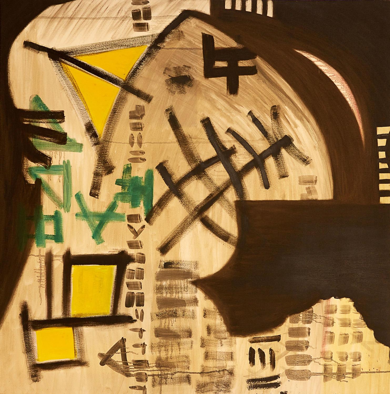 "Symbols , 2008   Oil on canvas   39 x 39"""
