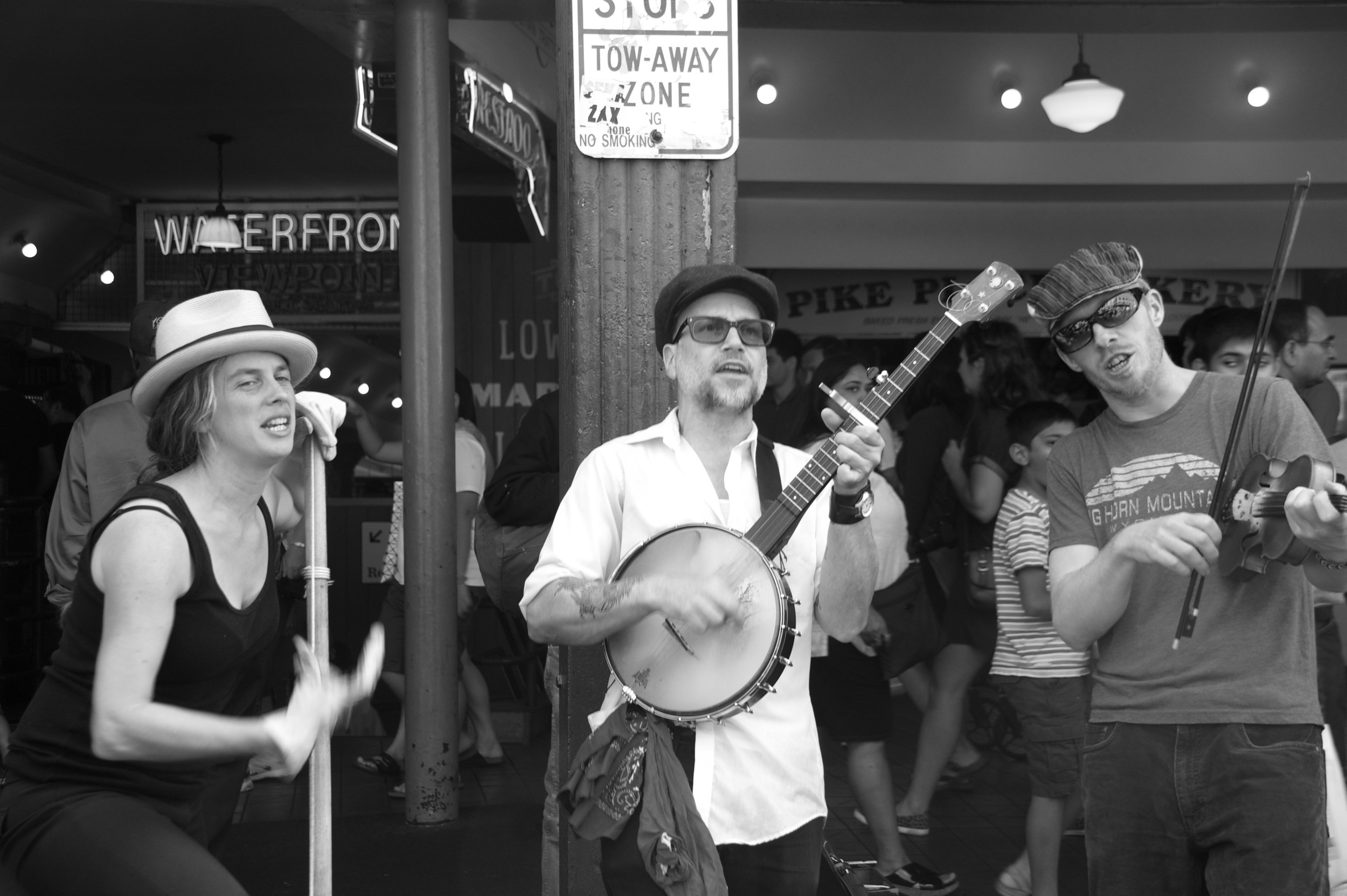 Buskers at Pike Place Market