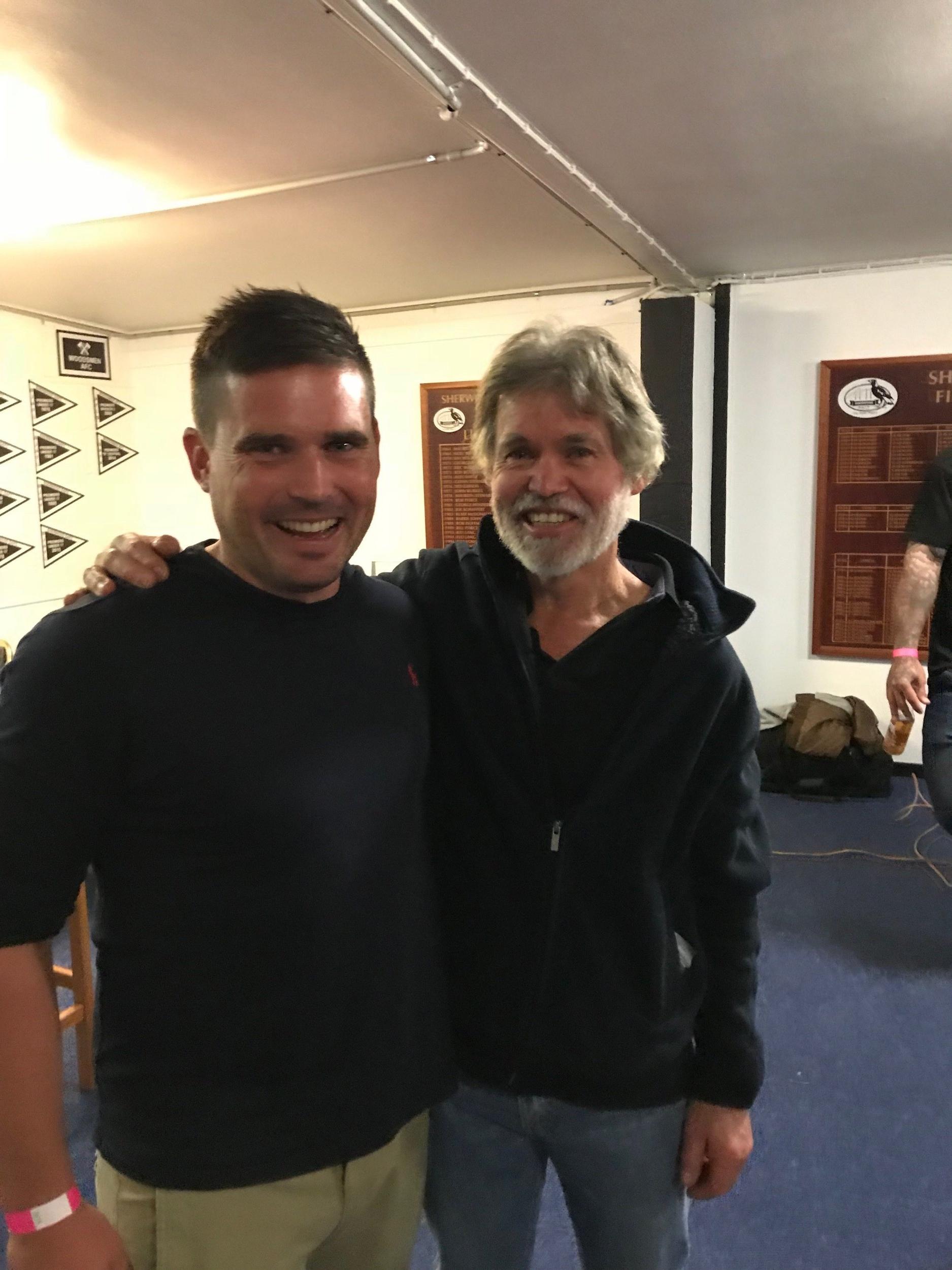 Chris & John Judson - both Magpie Premiership players multiple times.
