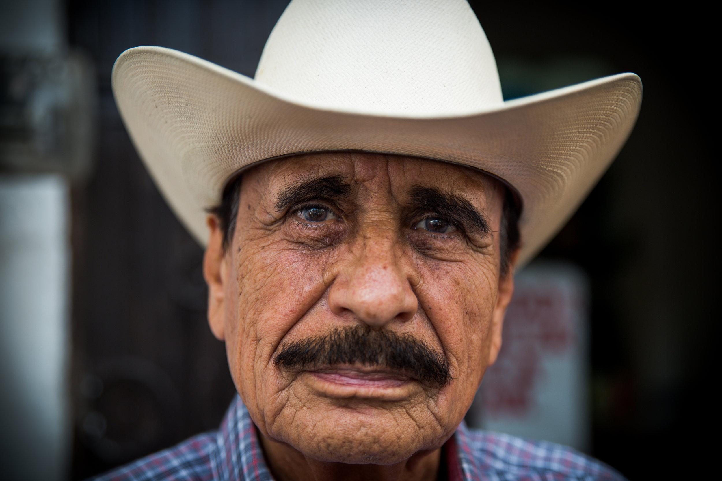 A man at the farmer's market. Monterrey, Mexico.