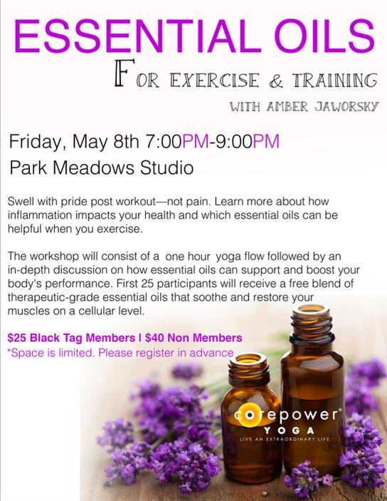 Essential Oils for Exercise & Training