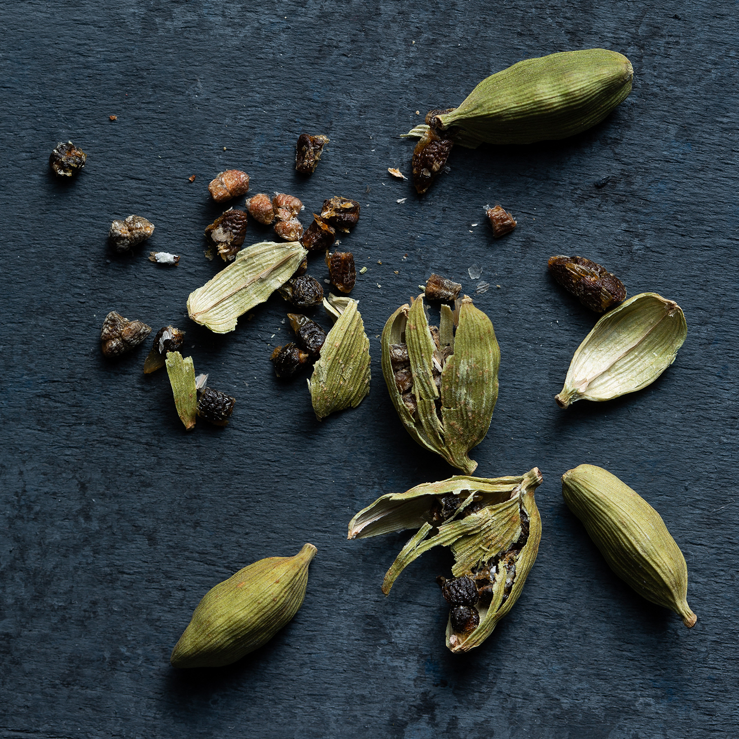 Crushed cardamom is a key ingredient in Kashmiri chai.