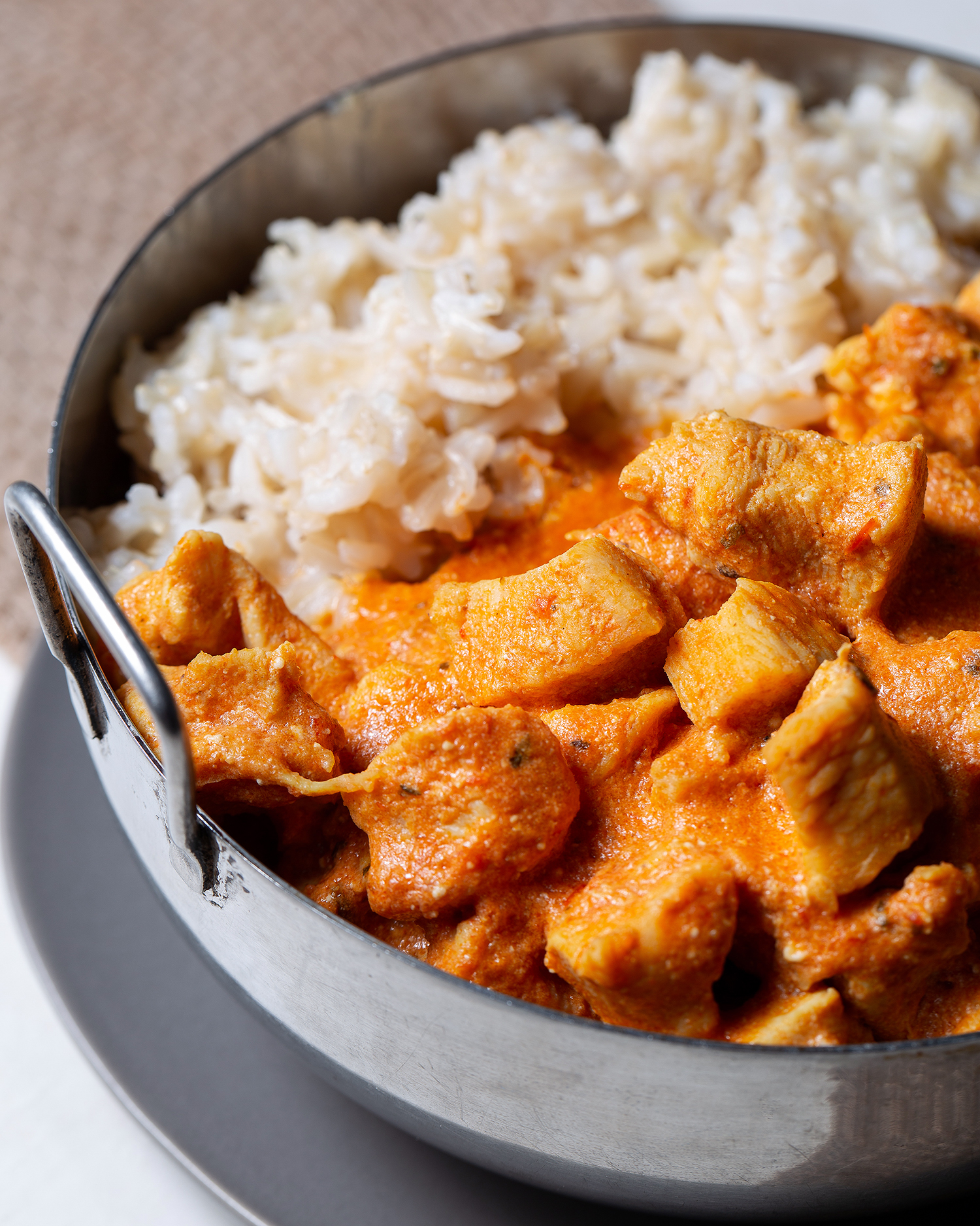 Halal Chicken Tikka Masala with Brown Basmati Rice