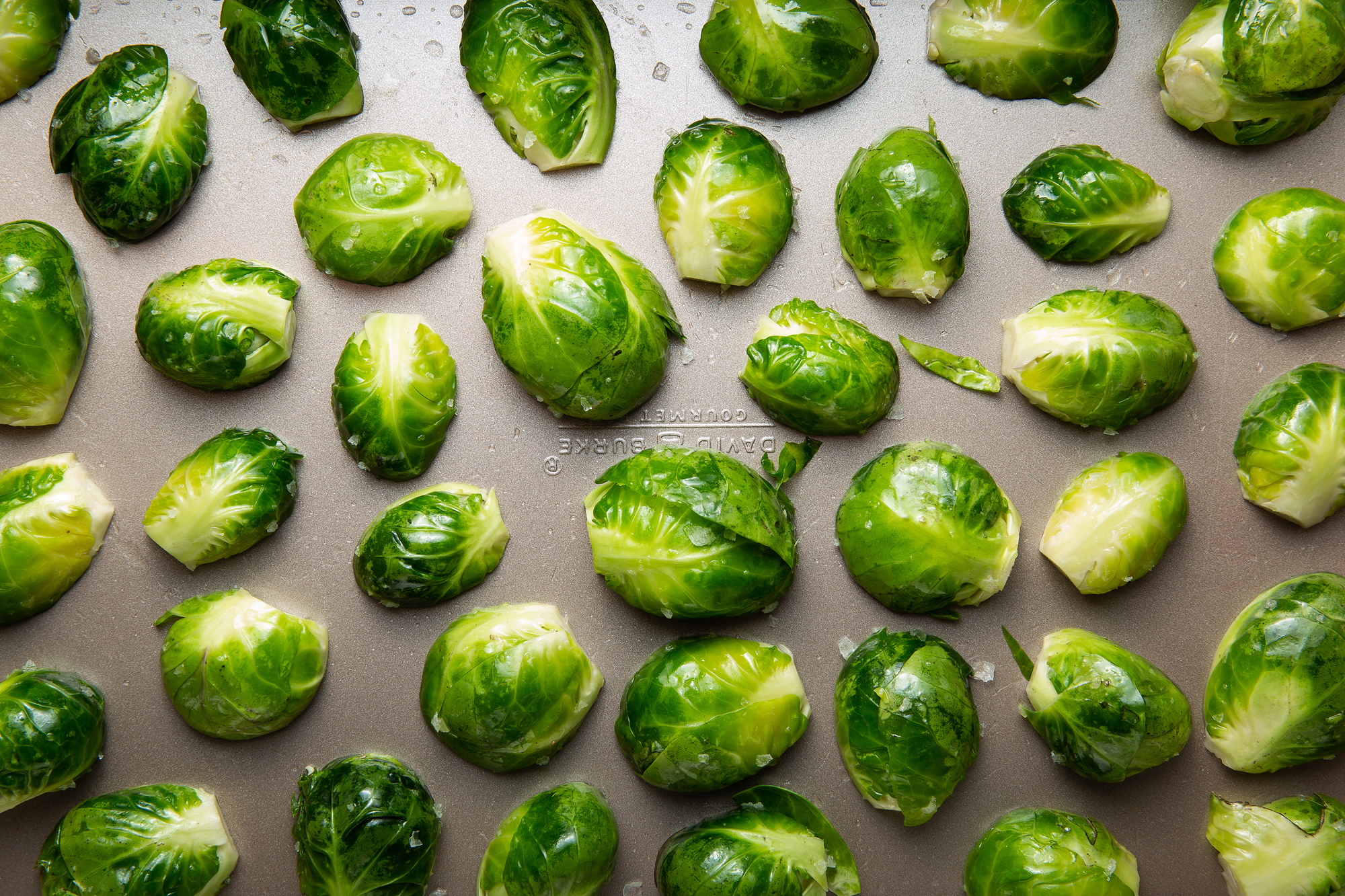 Oven Roasted Brussel Sprouts with Olive Oil and Salt