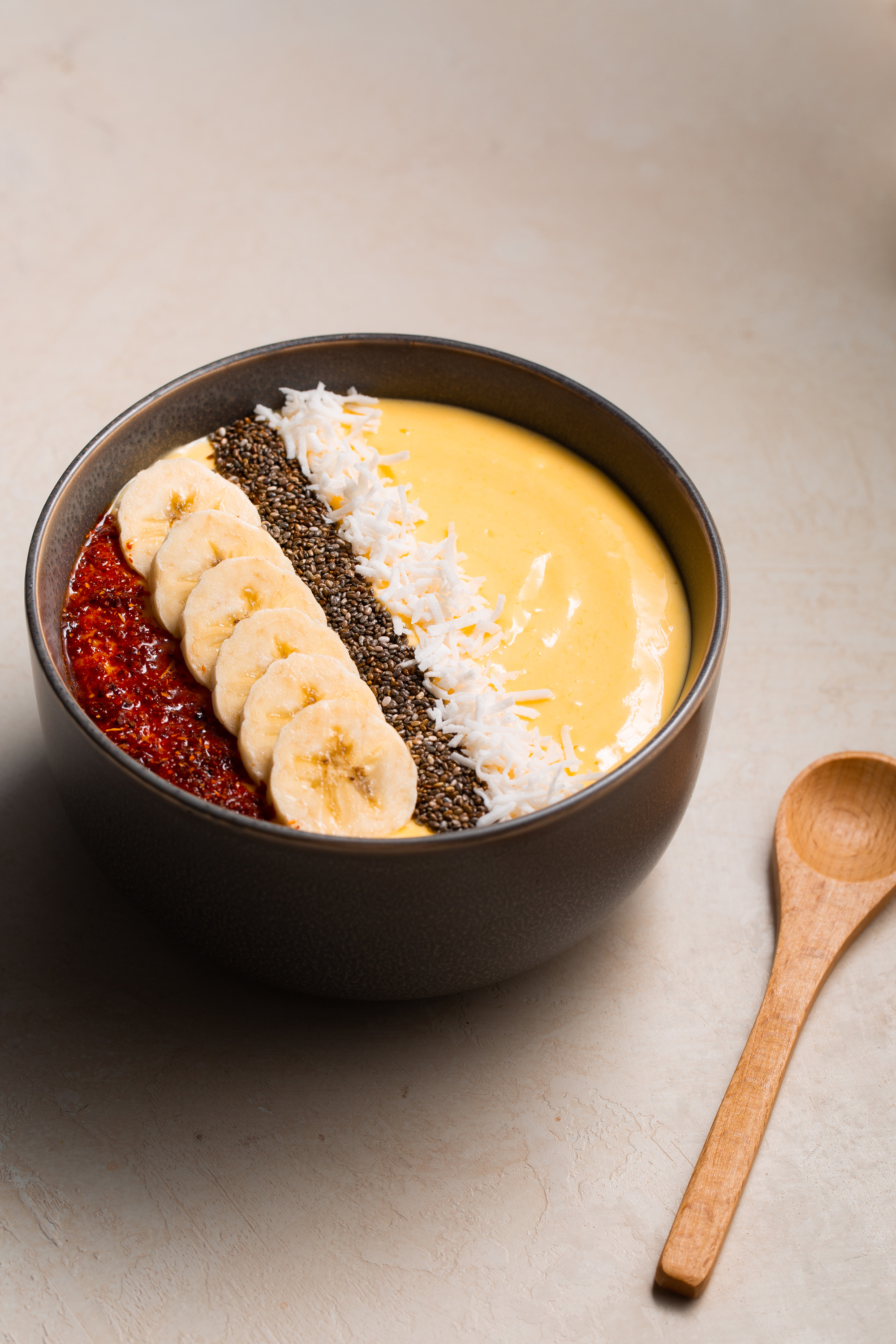 Mango Smoothie Bowl Chia Seeds Food Blogger