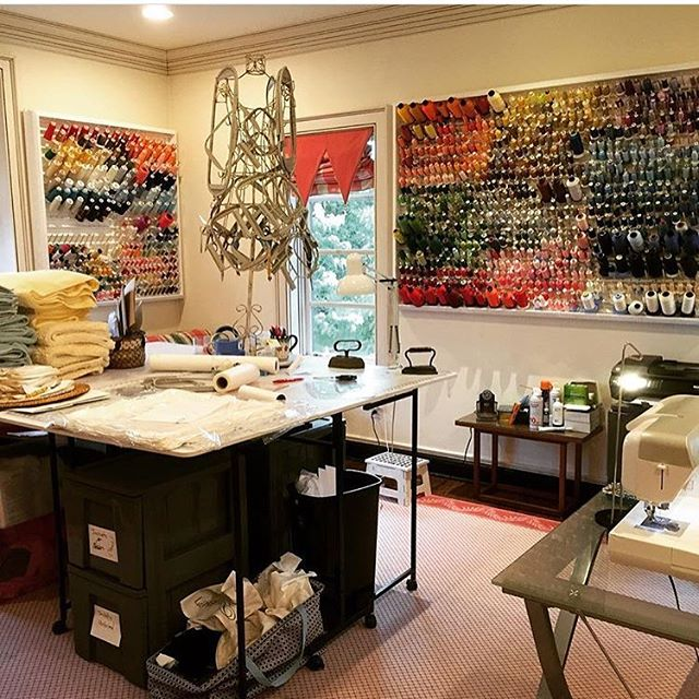 Our Nestive team helped bring the vision of an organized sewing room to life by creating original thread racks and strategically placing them. Another satisfied customer😊 Regram @winkmaryflowers  #sewing #sewingroom #diy #nestive #makeover #remodel #nashvillerealestate #nashvillethebeautiful #localbusiness #musiccity #loveyourhome #freeyourhome