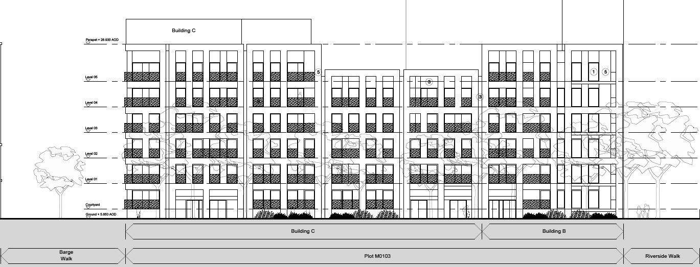 Proposed southeast elevation (view from Reminder Lane)