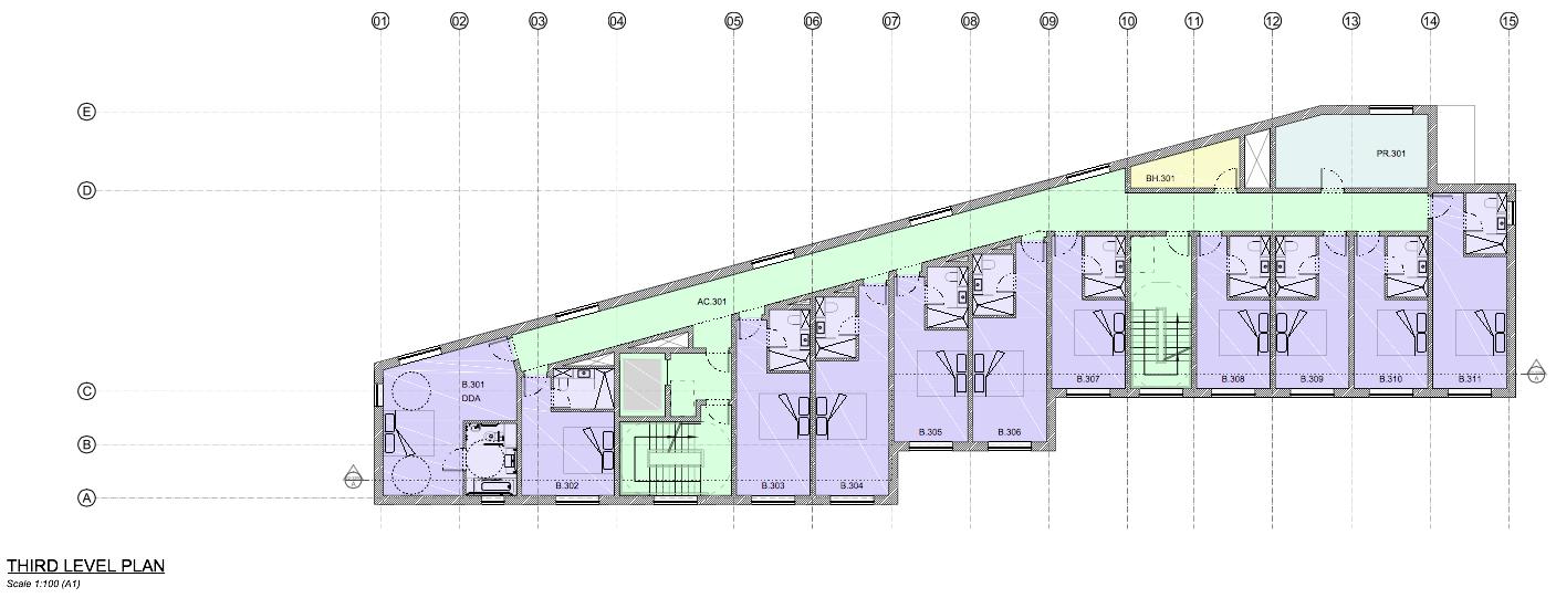 Third floor plan [Leach Rhodes  Walker]