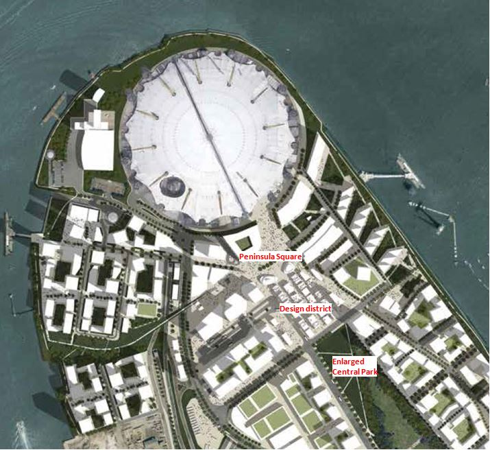 Revised Greenwich Peninsula Masterplan (2015 proposals)