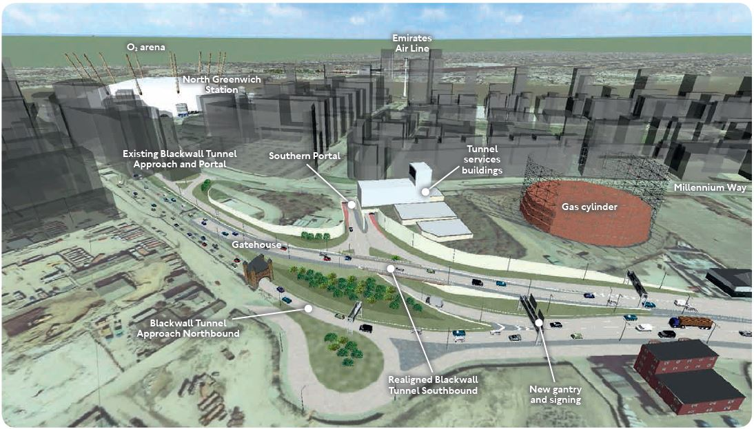 Proposed changes to the A102 Blackwall Tunnel Approach on the Greenwich Peninsula (TfL, March 2015)