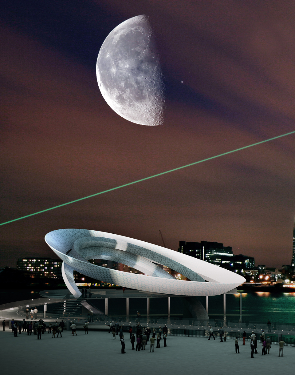 3D graphics by Wagstaffs Design give dramatic impressions of how the final sculpure might look