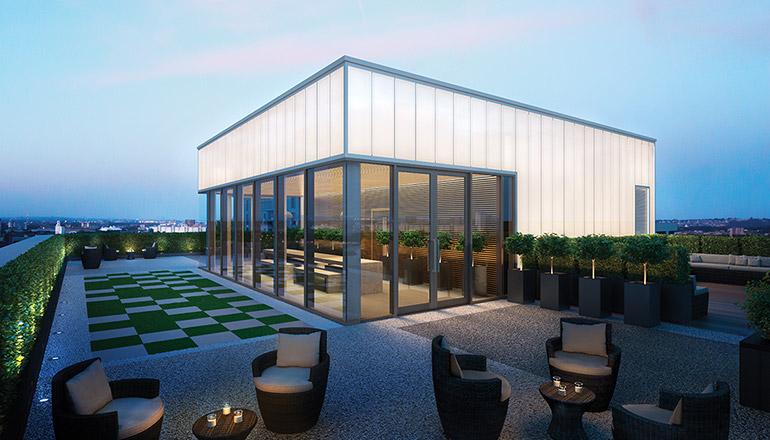 CGI: Communal roof terrace, The Fulmar [Jestico + Whiles]