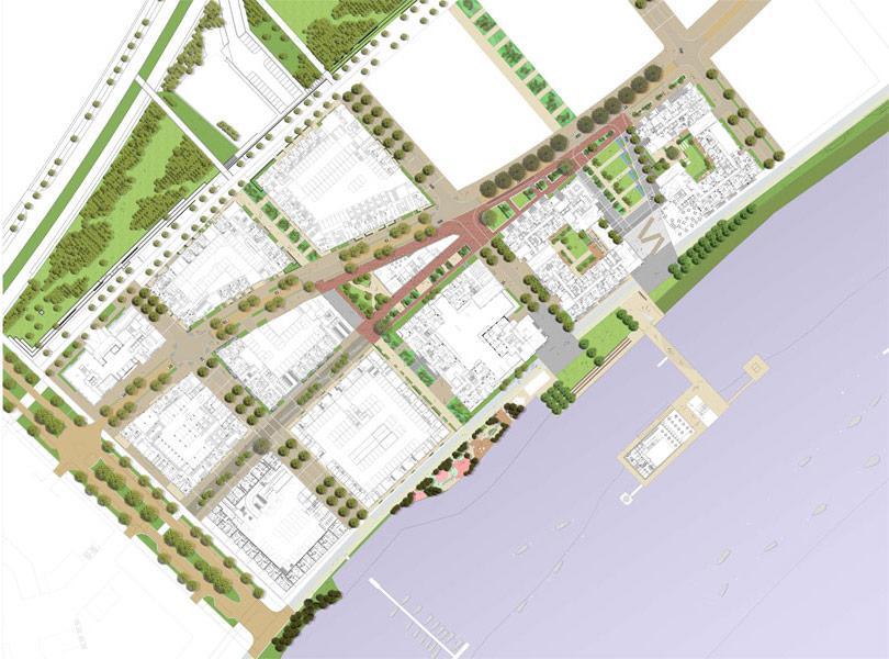 Landscaping around residential developments of Lower Rivierside [Turkington Martin]