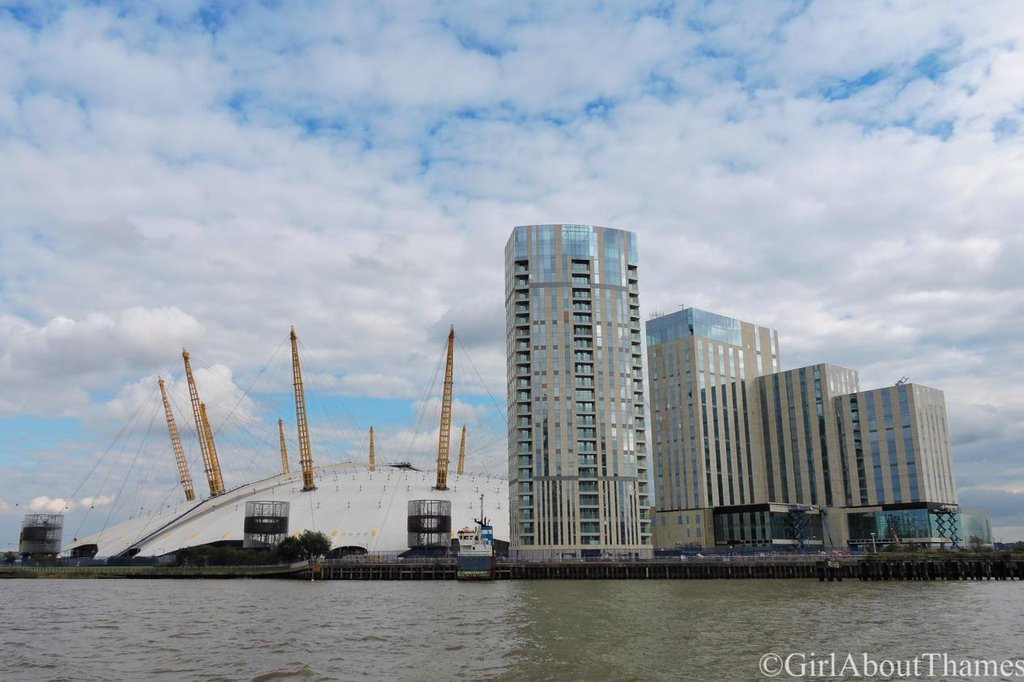 View of the hotel and residential tower under construction from the River Thames, September 2015 [ GirlAboutThames ]