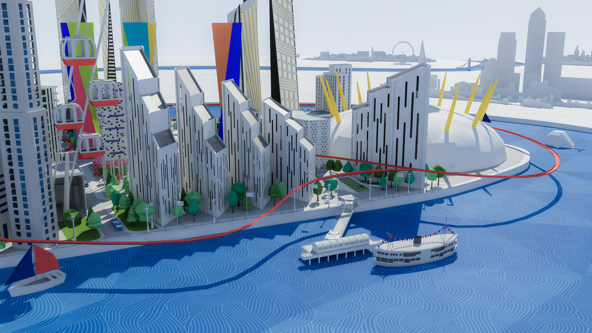 Upper Riverside on  Greenwich Peninsula's 3D PaperMap , February 2016