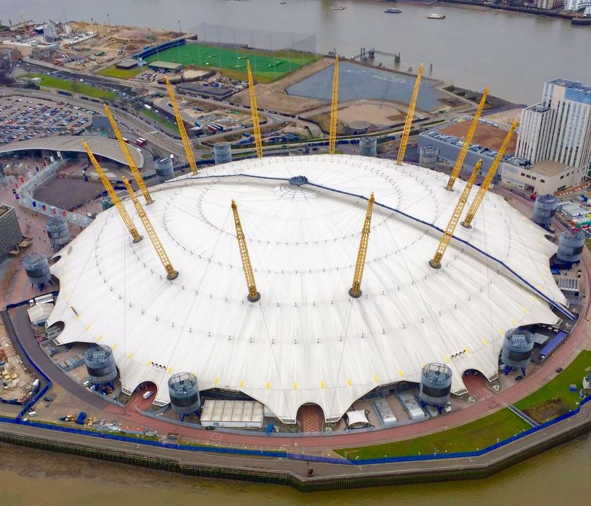 ‏The O2 arena and surrounding development sites - March 2016 [ @NPASLondon ]