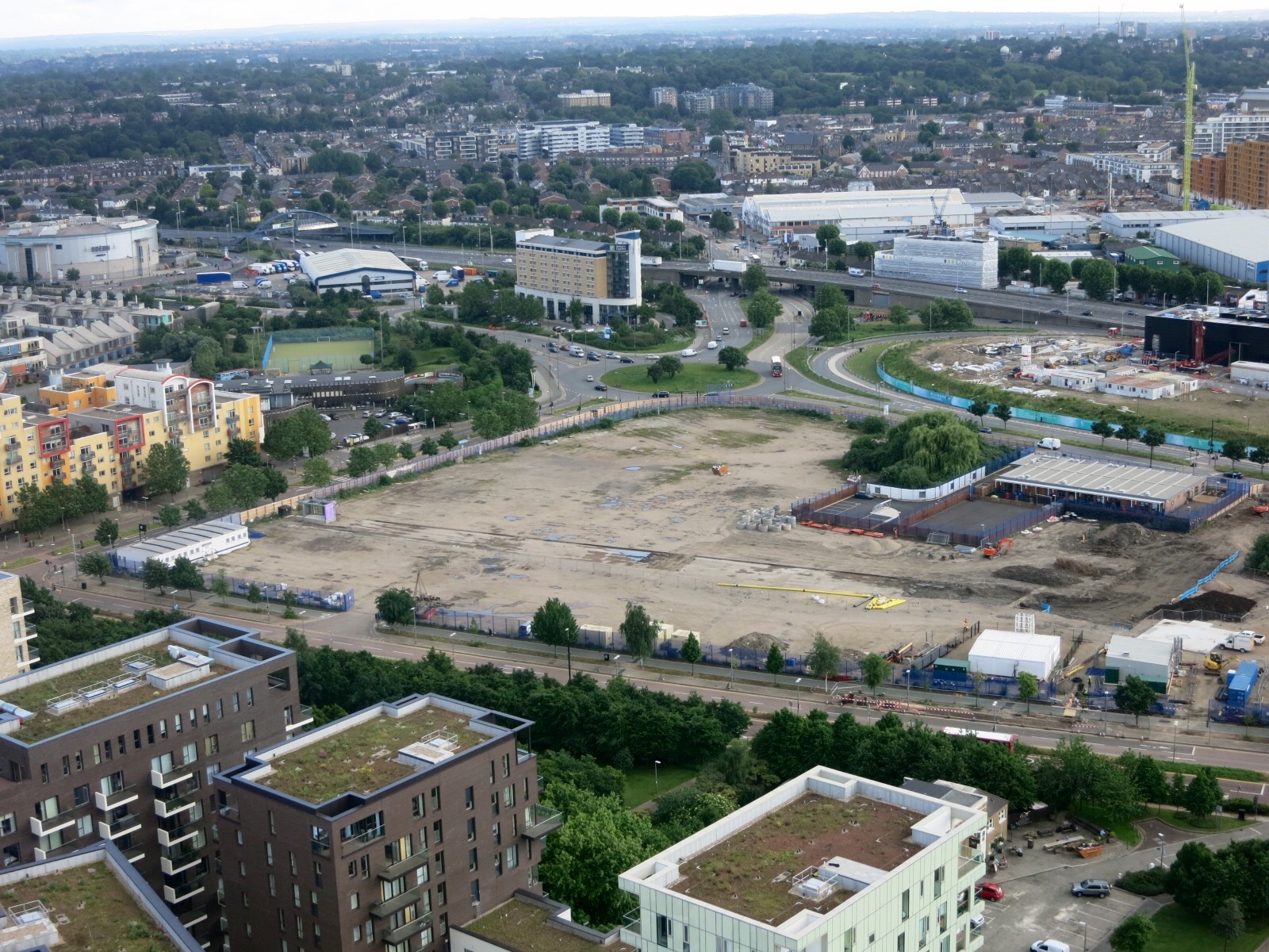 Cleared Lower Brickfields site, which is to house St Mary Magdalene Church of England School and 2 new residential plots