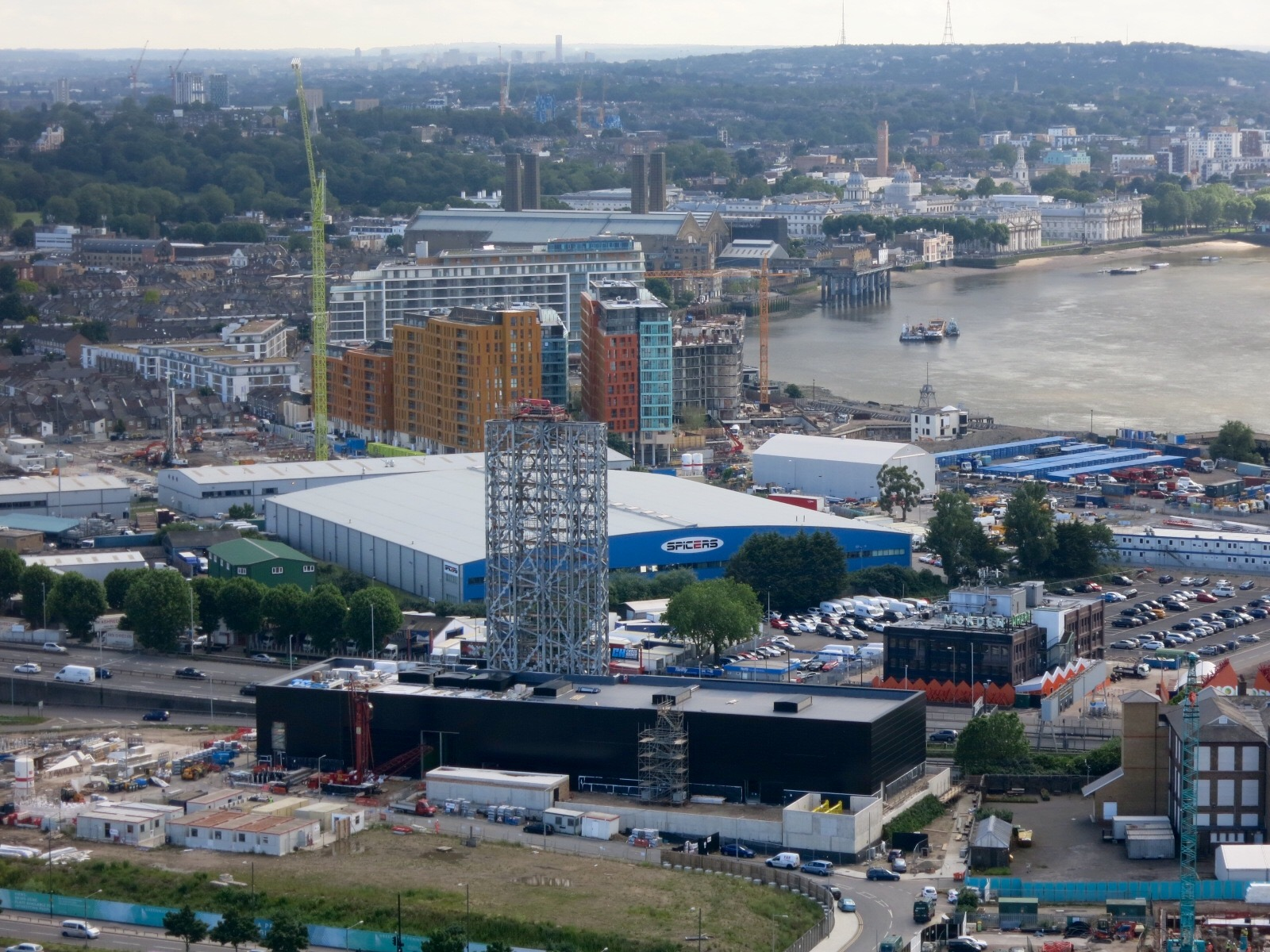 Construction progress on Greenwich Peninsula Low Carbon District Energy Centre and Enderby Wharf scheme
