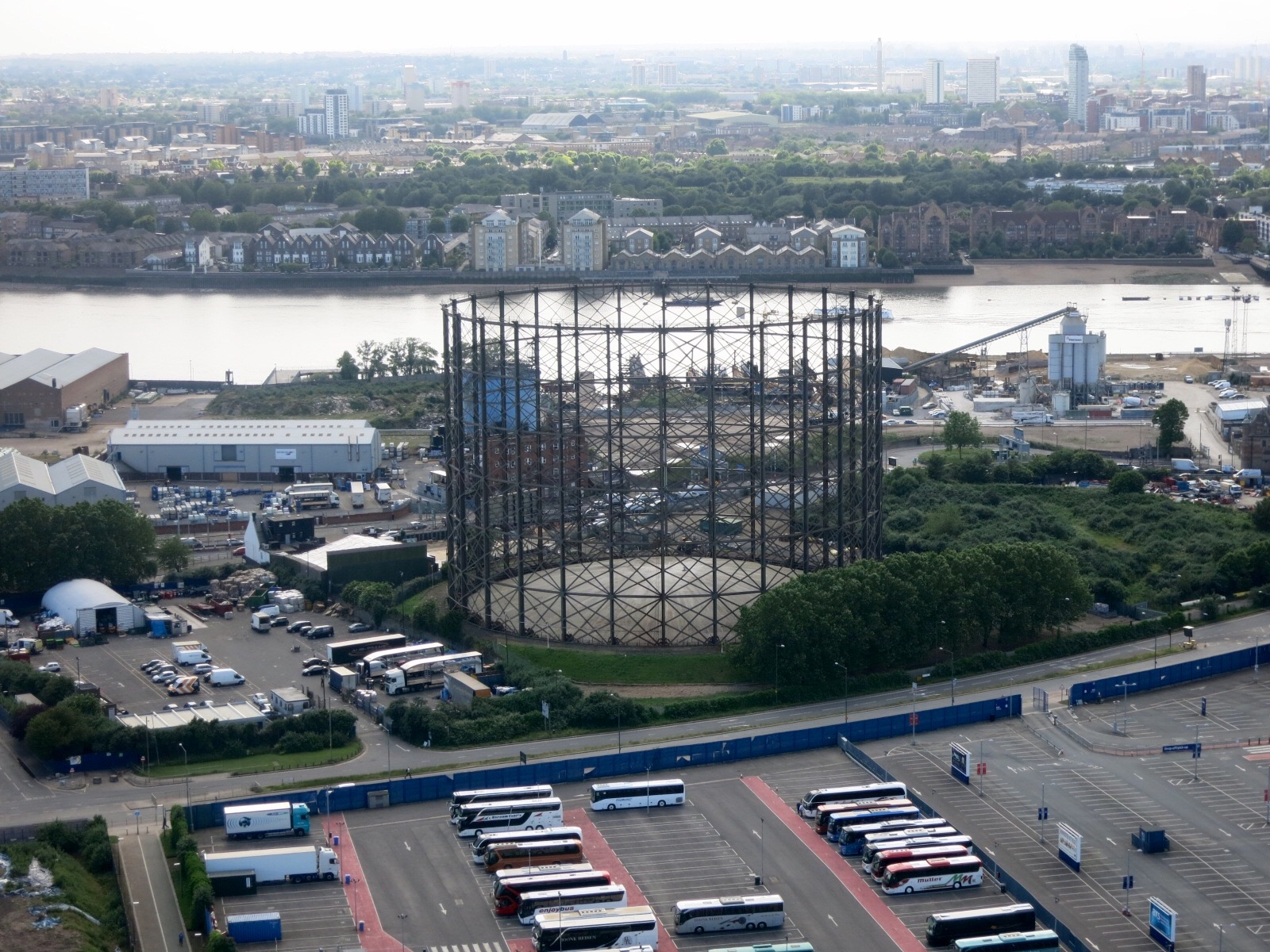 Disused gas holder at former East Greenwich gasworks
