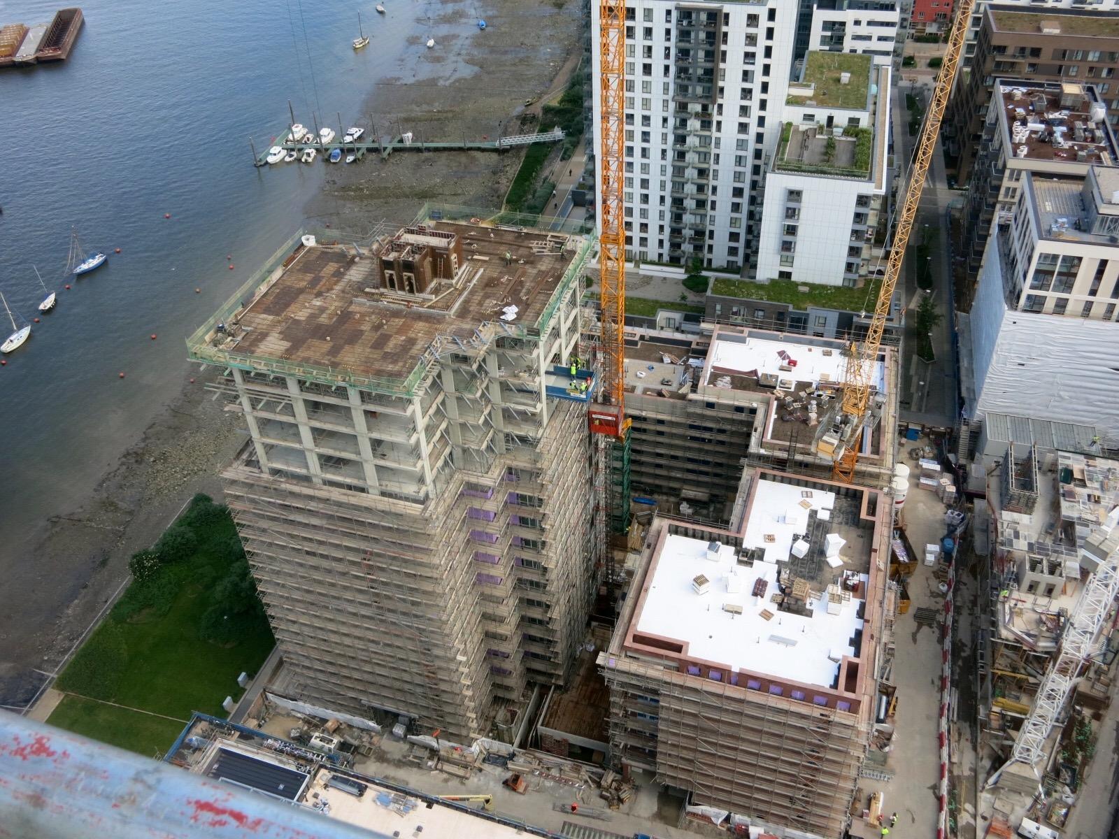 View over Lighterman development from roof of neighbouring Waterman, June 2016 [greenpen.london]