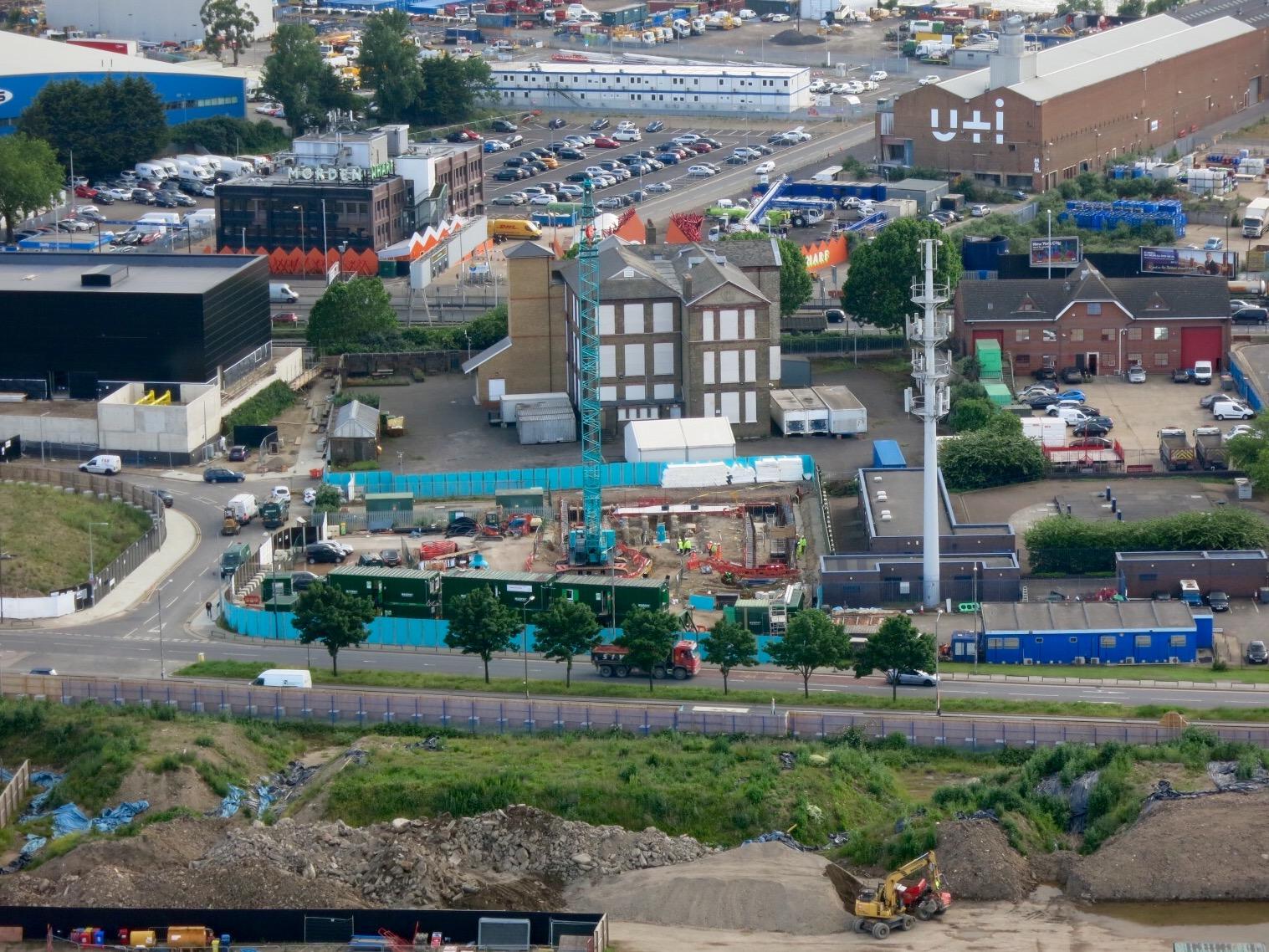 Groundworks begin on site, June 2016 [greenpenlondon]