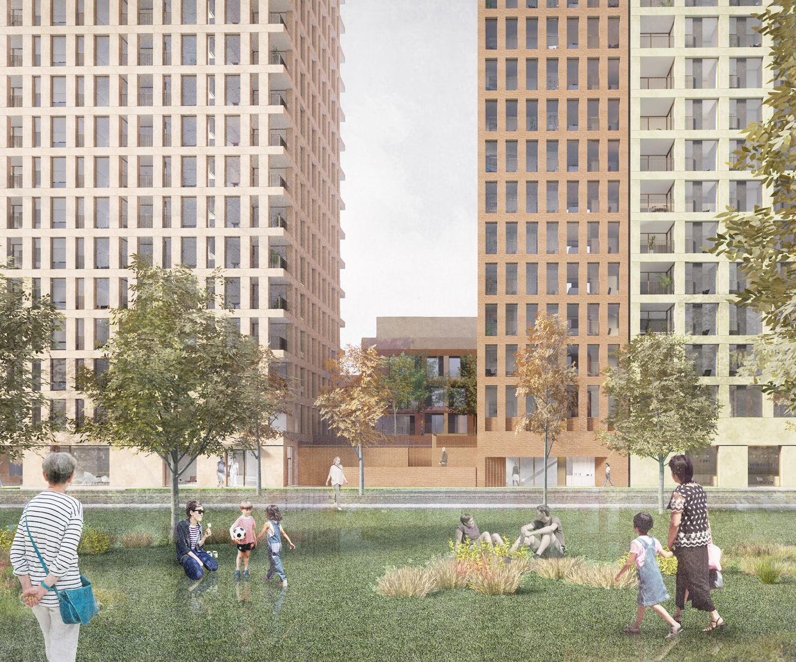 Hall McKnight Architect's design  for Plot 18.02 on Lower Brickside