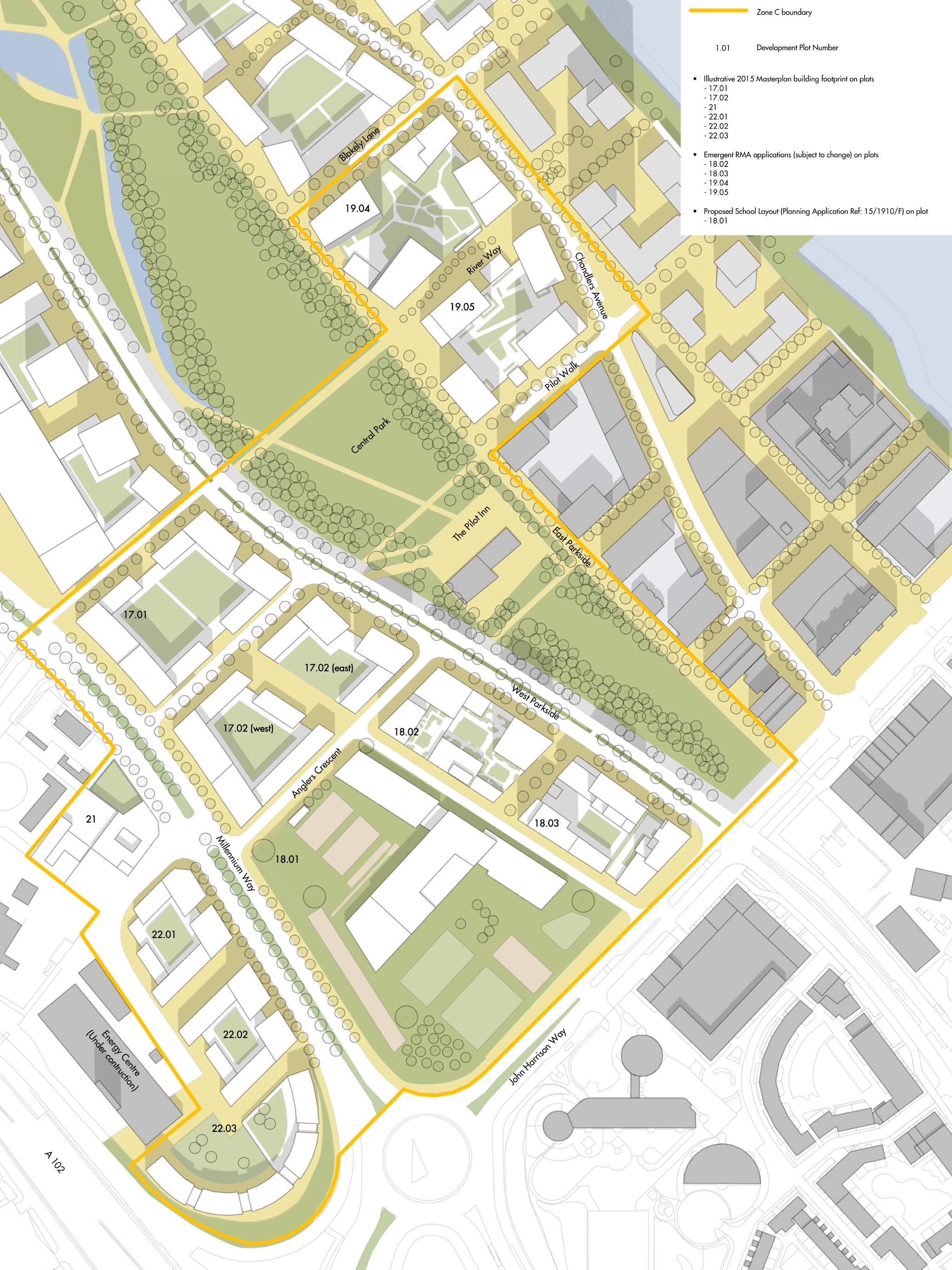 Zone C Masterplan proposals - Allies and Morrison, 2016