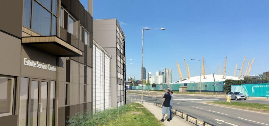 Proposed - Greenwich Peninsula Estate Service Centre [Northpoint Architects]