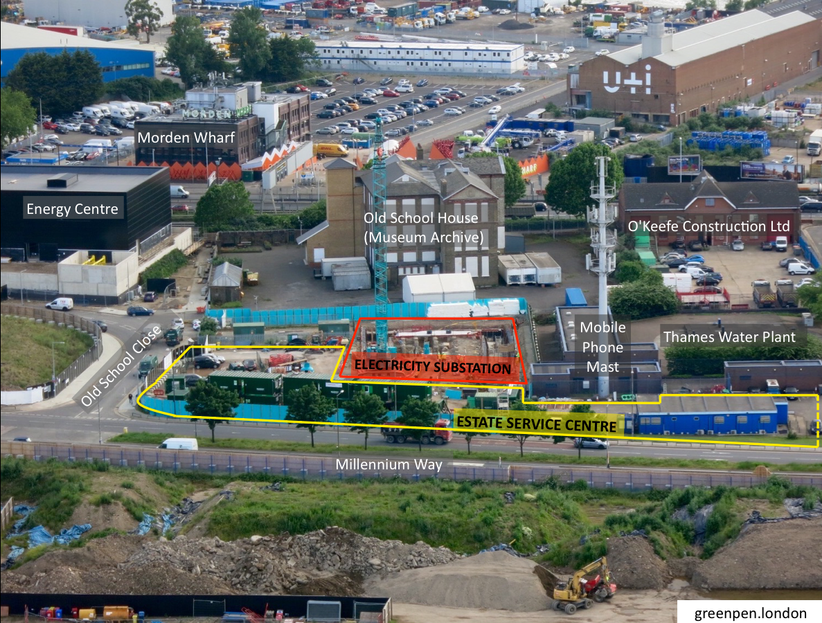 Site surrounding proposed Estate Service Centre on Millennium Way - July 2016 [greenpen.london]