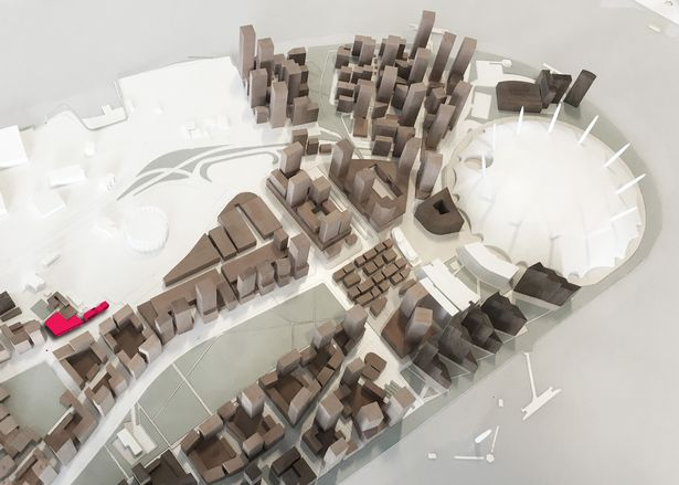 Location of proposed Estate Service Centre within approved Greenwich Peninsula 2015 Masterplan