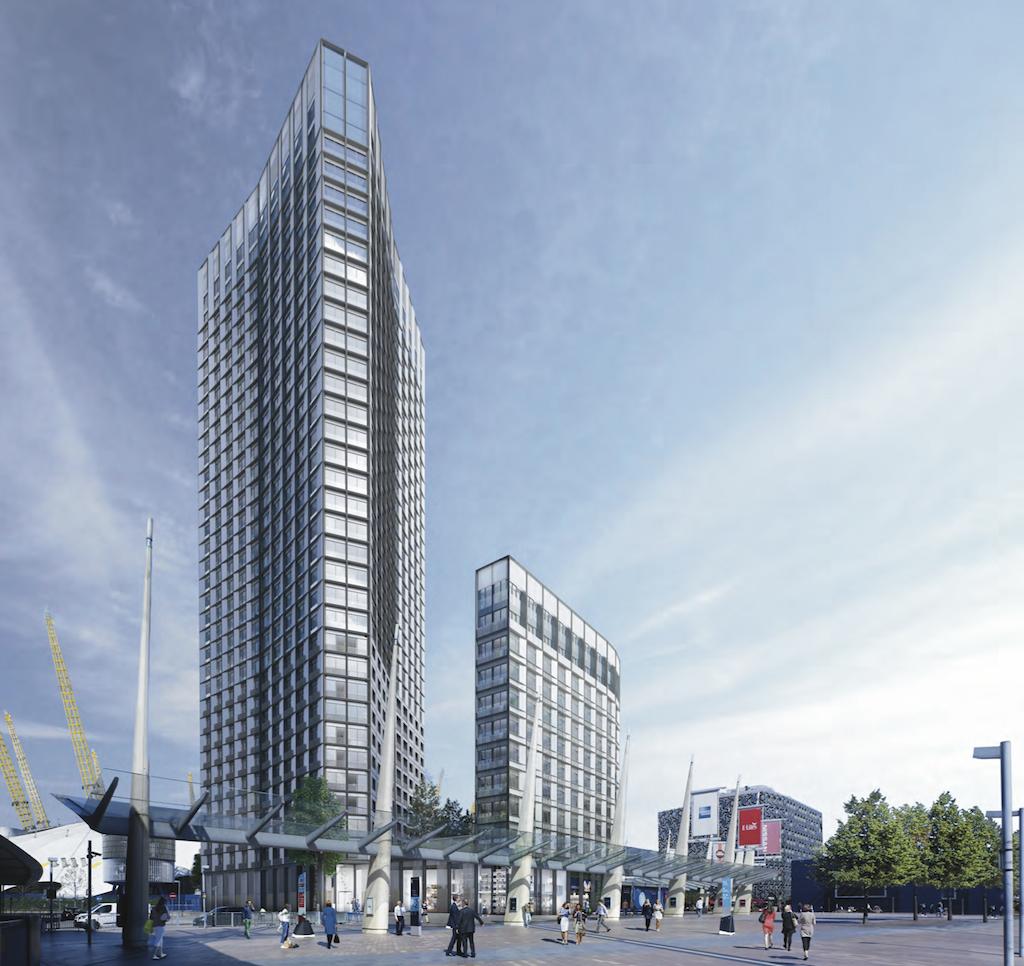 O2 owner AEG's proposal for a residential development - One Peninsula Square [AEG/Lifschutz Davidson Sandilands]