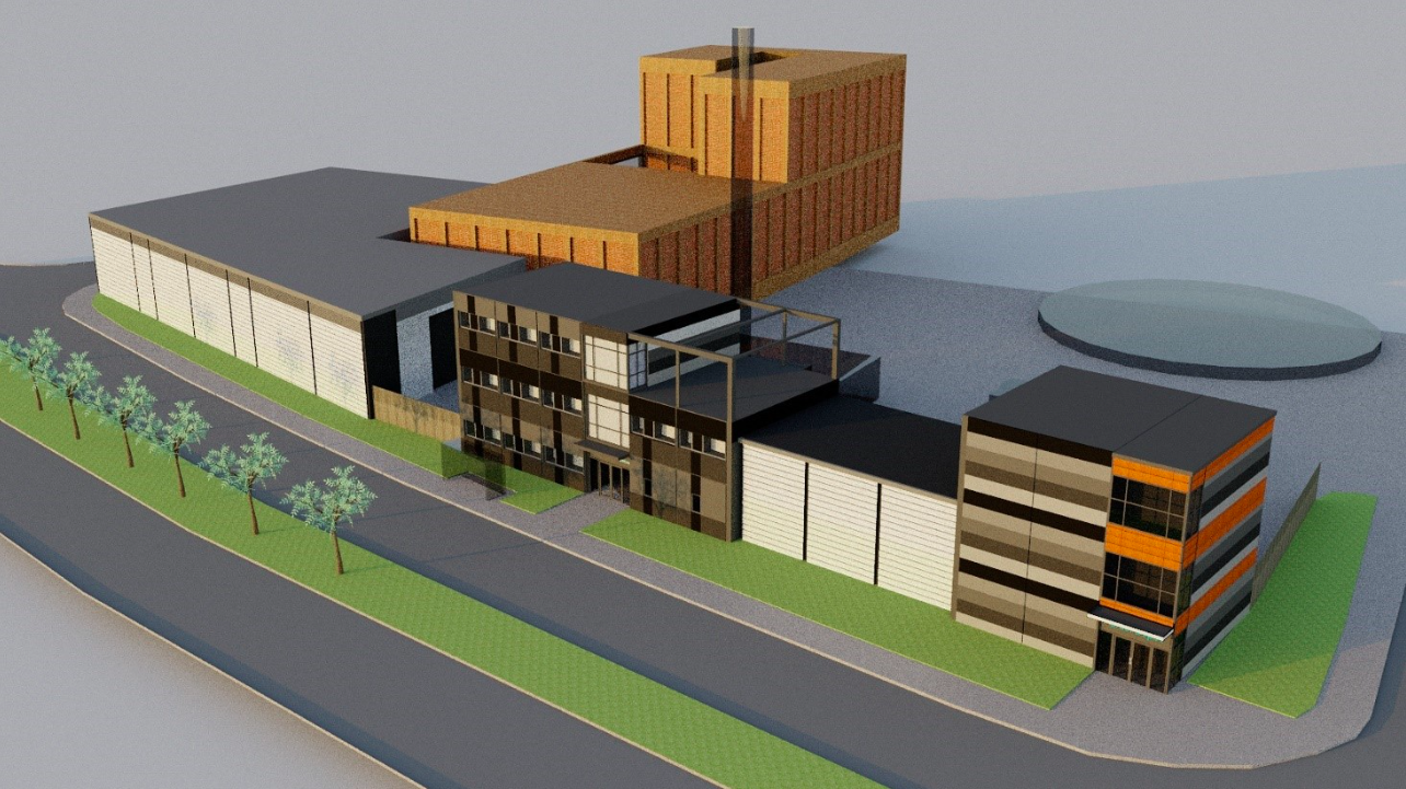 Proposed Estate Service Centre wraps UKPN electricity substation on site near Energy Centre [Northpoint Architects]