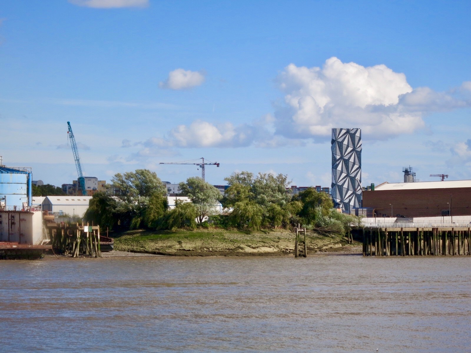 Developer U+I's (formerly Catherdral's) Morden Wharf site and former Tunnel Glucose Wharf.