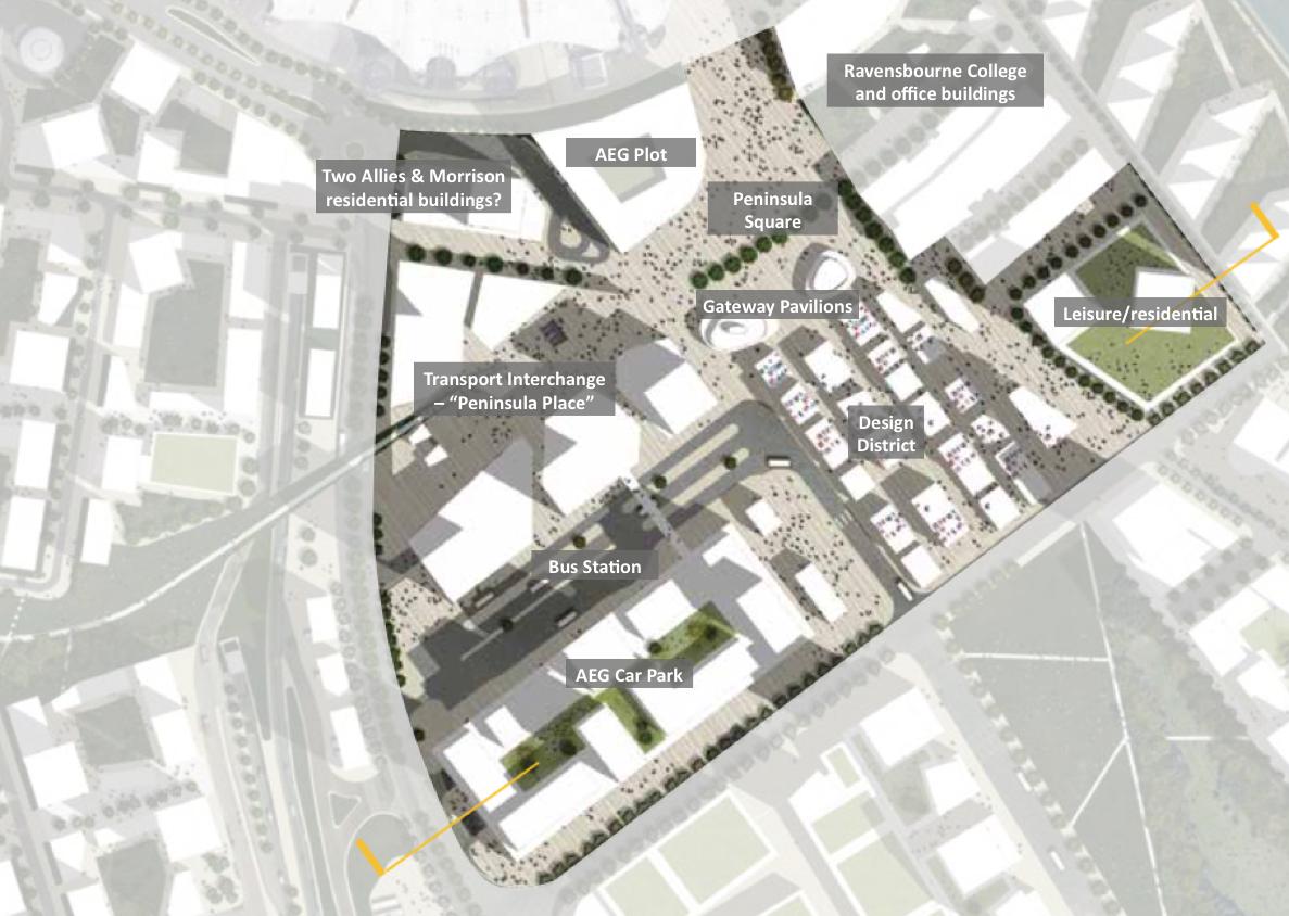 Greenwich Peninsula Masterplan 2015 -  Peninsula Central  proposals
