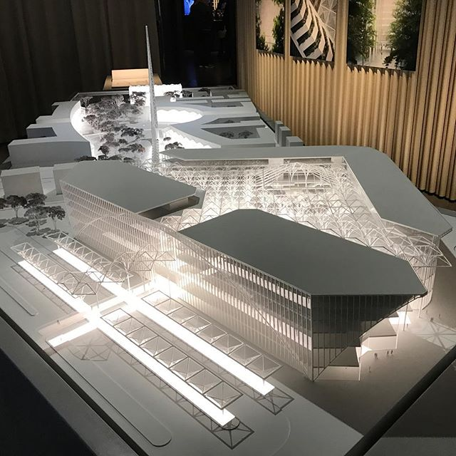 Peninsula Place with top sliced off #calatrava #santiagocalatrava #london #greenwichpeninsula #greenwich #northgreenwich #architecture #urbandesign #urbanplanning #transport #masterplan