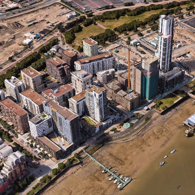Satellites images of the Greenwich Peninsula finally updated on Google Maps! Compare images from 2013 and 2027, link in bio. #greenwichpeninsula #greenwich #northgreenwich #london @googlemaps