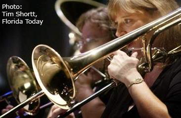 Cathryn Leasure on Trombone