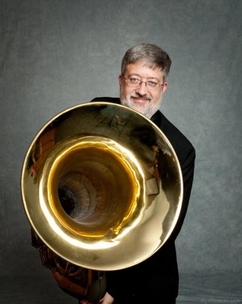 Eric Lee and his Tuba