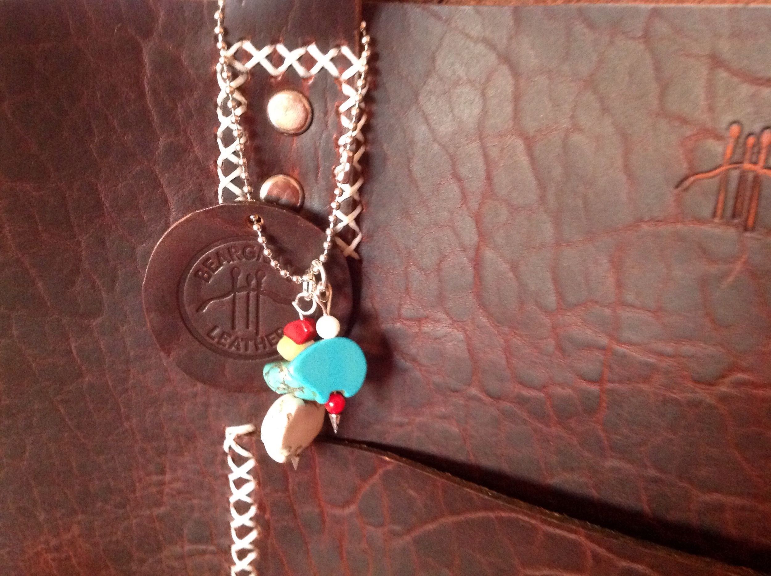 Sam included a zuni bear in turquoise for Maggie! Afterall, Maggie is a true mama bear.