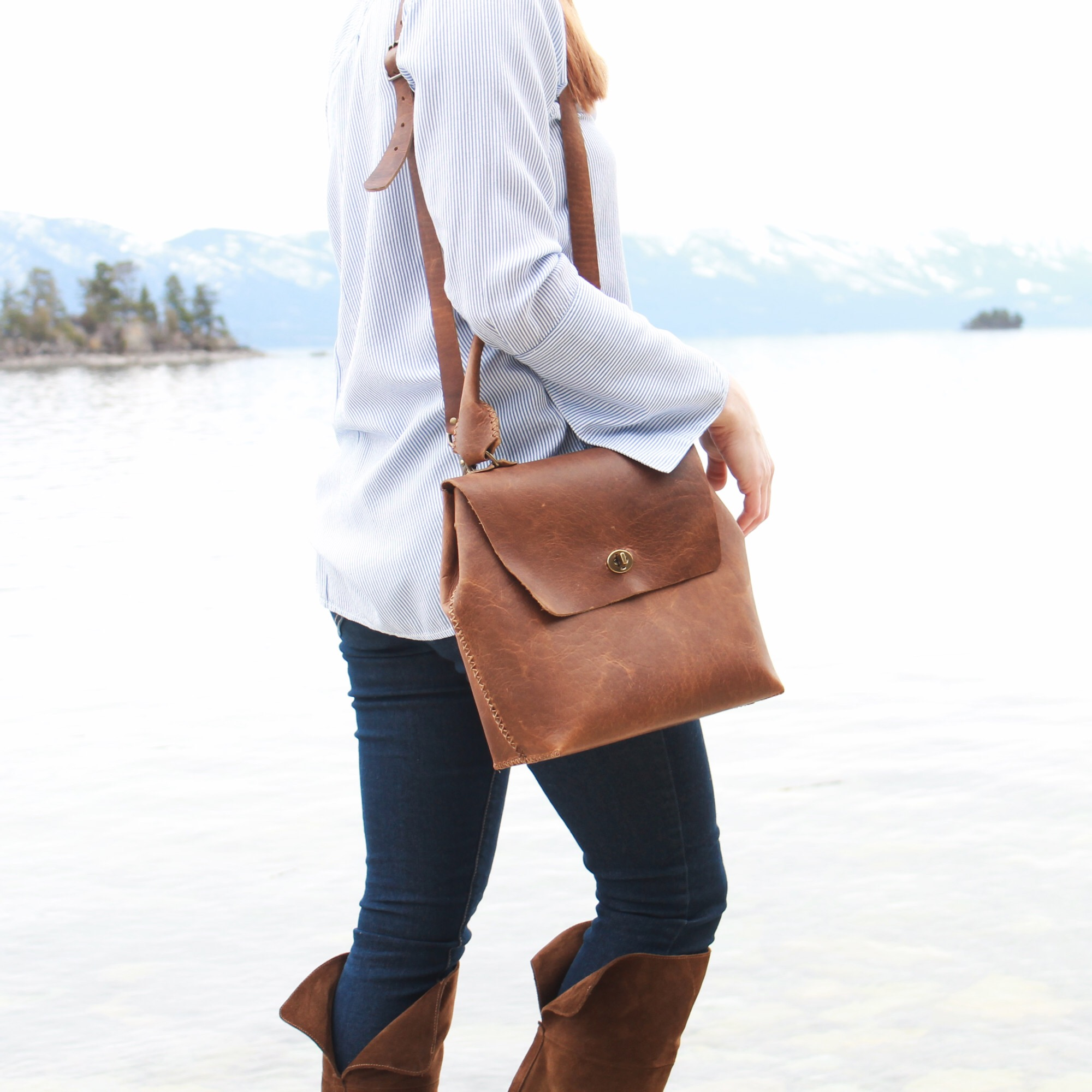 The Hathaway Bag by Beargrass Leather  Artisanal Leather Goods Handmade in the USA