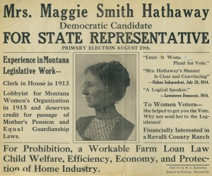 Newspaper supporting Hathaway's run for office.