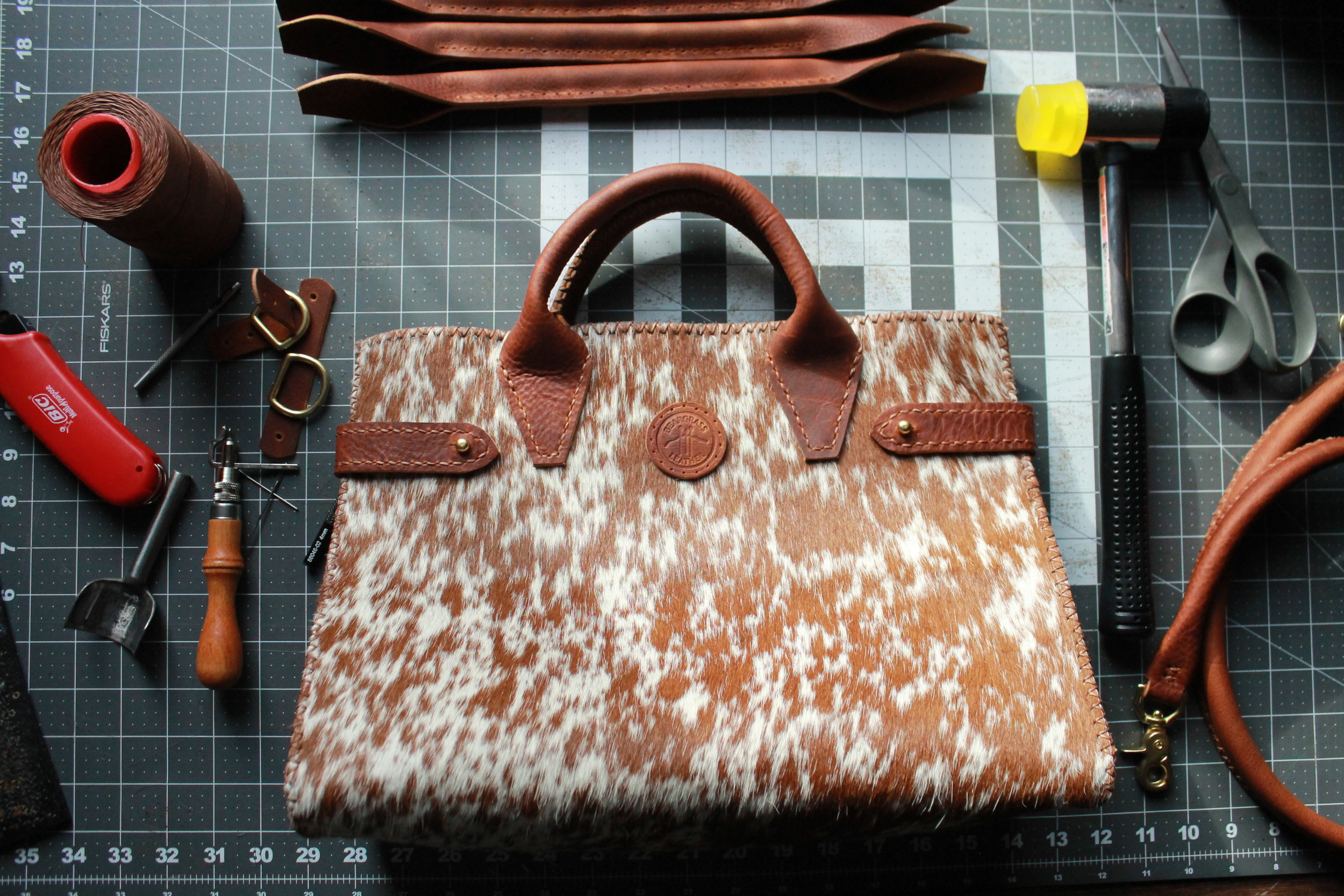 American Made Handbag Bespoke Hair-on-hide