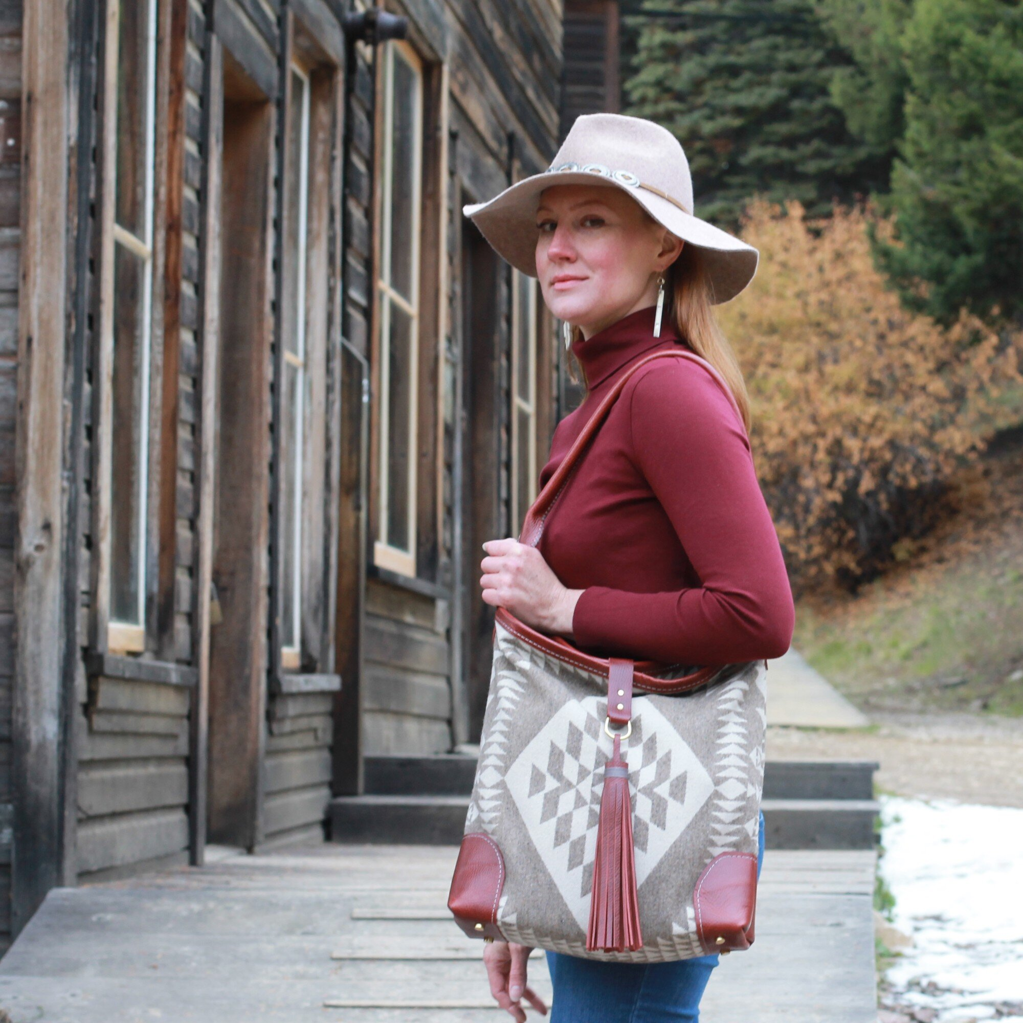 Millie Tote in Griege and Rust