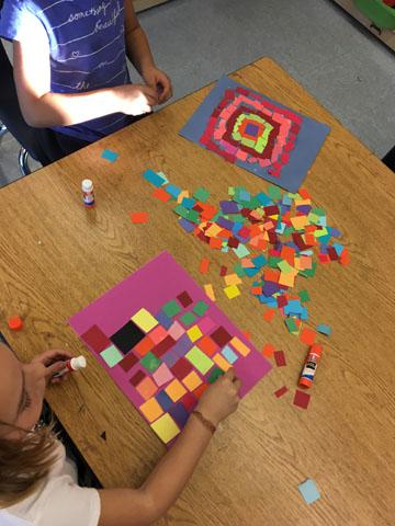 Alma-Thomas mosaic for kids