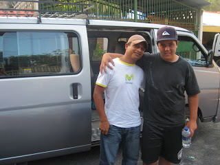 (Stephen & Santiago our driver for the week)